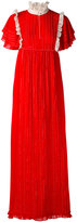 Manoush frill trim maxi dress - women - Cotton/Polyester - 38