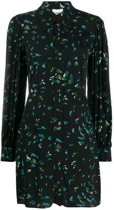 Ganni Bluebell Printed Shirt Dress