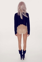 Wildfox Couture Crush Billy Cropped Sweater in Clean Black