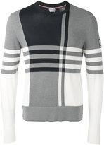 Moncler Gamme Bleu checked knitted jumper - men - Cotton - XL