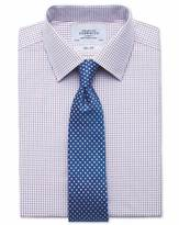 Charles Tyrwhitt Slim fit two colour check red & blue shirt