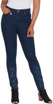 Martha Stewart Regular Embellished 5-Pocket Ankle Jeans