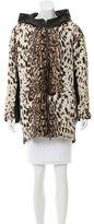 Baja East Leather Hooded Jacket