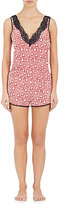 Stella McCartney Women's Poppy Snoozing Stretch-Silk Romper-RED
