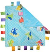 Kids II Taggies Little Taggies Blanket, Blue Vehicles