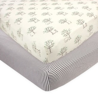 Touched by Nature Baby Boy Organic Cotton Crib Sheet, 2pc