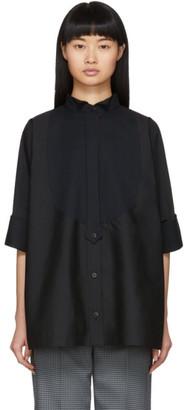 Sacai Black Cropped Sleeve Shirt