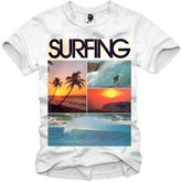 E1syndicate T-Shirt Vintage Surf S Up Hawaii Tiki Hipster Wakeboard S-Xl