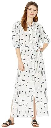 CALi DREAMiNG Shirtdress (Broken Tile) Women's Dress