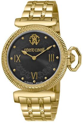 Roberto Cavalli By Franck Muller Women Swiss Quartz Gold Stainless Steel Bracelet Watch, 38mm