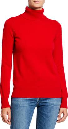Neiman Marcus Plus Size Basic Long-Sleeve Turtleneck Cashmere Sweater