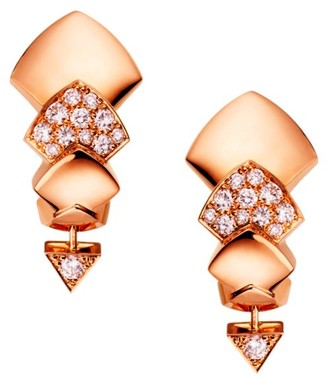 Akillis Python 18K Rose Gold & Diamond Drop Earrings