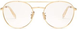 Celine Round-frame Metal Glasses - Womens - Gold