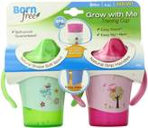 Born Free BPA-Free Grow with Me 6 oz. Training Cup, 2 Count, Girl
