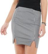 So Juniors' SO Double Slit Mini Skirt