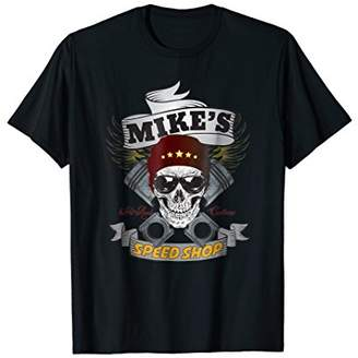 Mike's Speed Shop T-shirt - Funny Hot Rod Car Guy