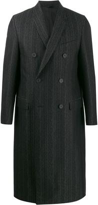 Fendi Striped Double-Breasted Coat