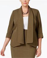 Kasper Plus Size Open-Front Jacket