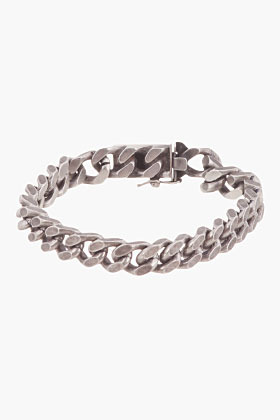 Saint Laurent Antiqued silver curb chain Gormette Bracelet