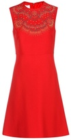 Valentino Embellished Wool And Silk Dress