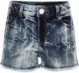 River Island Girls blue acid wash denim boyfriend shorts