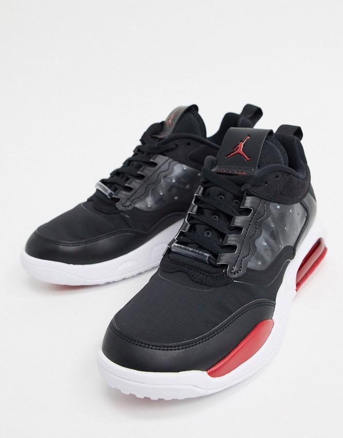 Jordan Nike Air Max 200 trainers in black/red