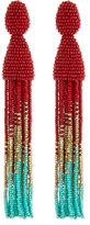Oscar de la Renta Beaded Ombre Tassel Earrings