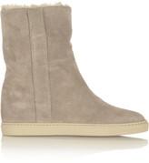 Common Projects Shearling-lined suede boots