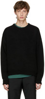 John Elliott Black Cropped Cashmere Sweater