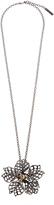 Oscar de la Renta Flower crystal-embellished necklace and brooch