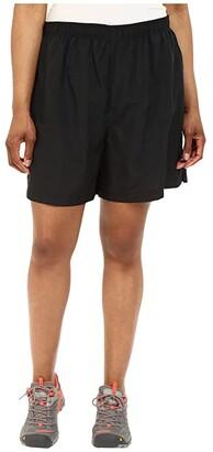 Columbia Plus Size Sandy Rivertm Short (Black) Women's Shorts
