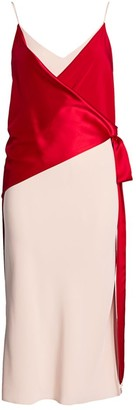 Unttld Salome Colorblock Satin Slip Dress