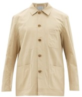 BEIGE Odyssee - Hayes Cotton And Silk-twill Overshirt - Mens