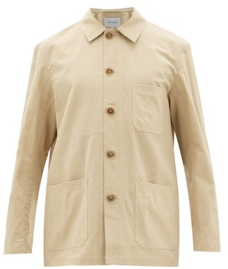 ODYSSEE Hayes Cotton And Silk-twill Overshirt - Beige