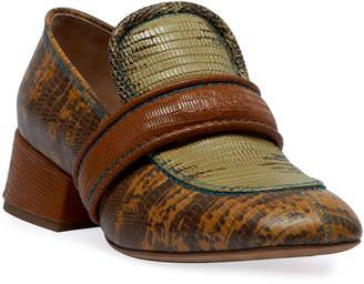 Chloé Cheryl Short Exotic Loafers