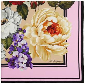 Dolce & Gabbana Multicolor Silk Floral Scarf