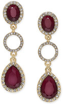 INC International Concepts Gold-Tone Multi-Stone and Pavé Drop Earrings, Only at Macy's