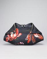 Alexander McQueen Painted Flowers De-Manta Clutch Bag