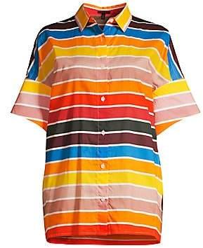 Escada Women's Nelluni Multicolor Stripe Tunic Shirt