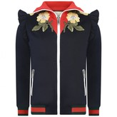 Gucci GUCCIGirls Navy Floral Zip Up Top