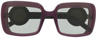 Marni Eyewear Square-Frame Sunglasses