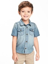 Old Navy Button-Front Denim Shirt for Toddler Boys