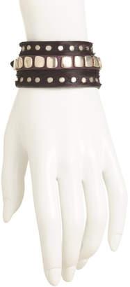Handmade In Spain Leather Tainted Bracelet