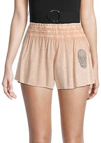 Thumbnail for your product : Surf.Gypsy Crepe Smocked Waist Shorts
