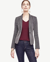 Ann Taylor Twill Single Button Blazer