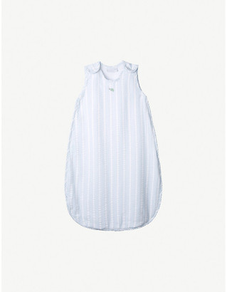 The Little White Company Under-The-Sea striped cotton sleeping bag 0-6 months
