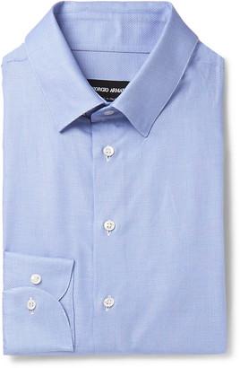 Giorgio Armani Blue Checked Cotton Shirt