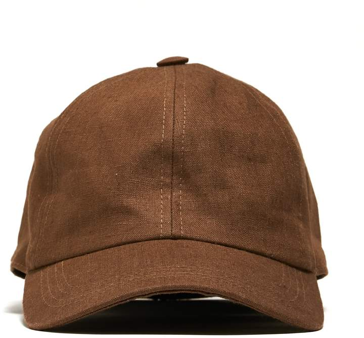 d3449450f Lock and Co + Todd Snyder Linen Rimini Baseball Cap in Brown