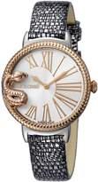 Roberto Cavalli OVERSIZED SNAKE Women's Swiss-Quartz Leather Strap Watch
