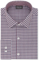 Kenneth Cole Reaction Men's Tall Slim-Fit Techni-Cole Stretch Performance Gingham Dress Shirt
